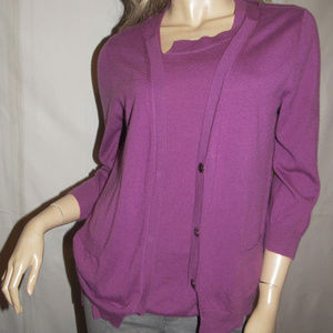 BOTTEGA VENETA CASHMERE 2PC TWINSET top+cardigan 6